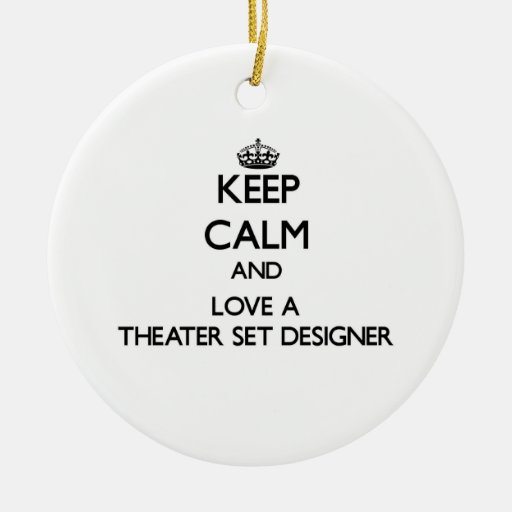 Keep Calm and Love a aater Set Designer Christmas Tree Ornament