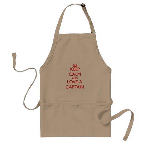 Keep Calm and Love a Captain Apron