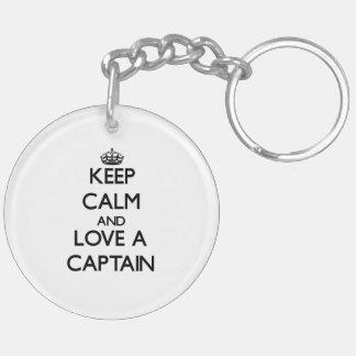 Keep Calm and Love a Captain Acrylic Key Chains