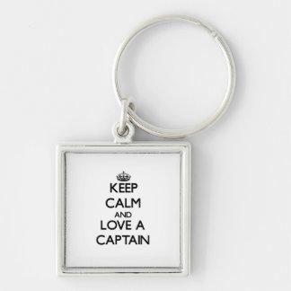 Keep Calm and Love a Captain Keychain