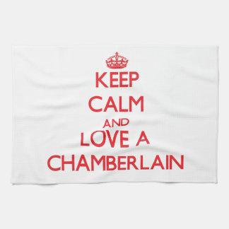 Keep Calm and Love a Chamberlain Towel
