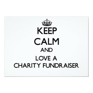 Keep Calm and Love a Charity Fundraiser Personalized Announcements