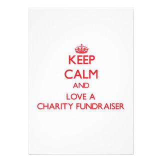 Keep Calm and Love a Charity Fundraiser Custom Invitations