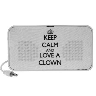 Keep Calm and Love a Clown Travelling Speakers