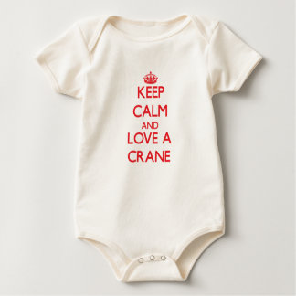 Keep calm and Love a Crane Baby Bodysuit