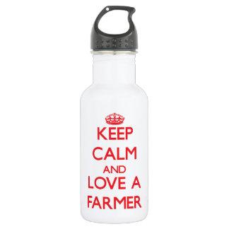 Keep Calm and Love a Farmer 532 Ml Water Bottle
