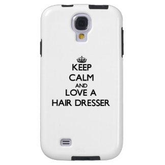 Keep Calm and Love a Hair Dresser Galaxy S4 Case