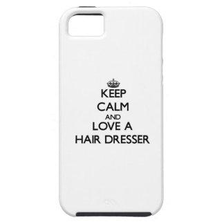 Keep Calm and Love a Hair Dresser iPhone 5 Case