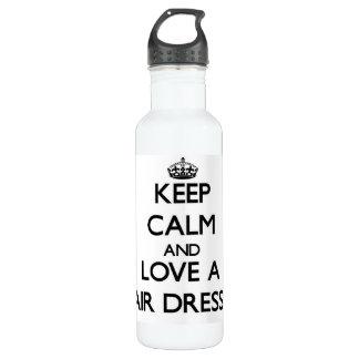 Keep Calm and Love a Hair Dresser 24oz Water Bottle