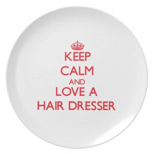 Keep Calm and Love a Hair Dresser Plates