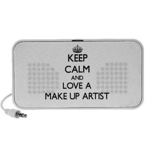 Keep Calm and Love a Make Up Artist iPhone Speaker