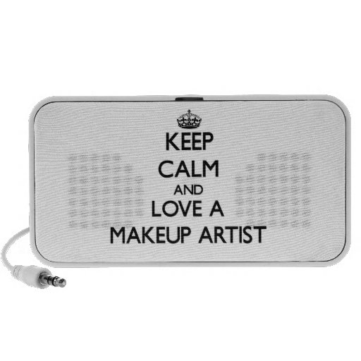 Keep Calm and Love a Makeup Artist Notebook Speakers