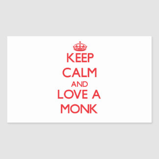 Keep Calm and Love a Monk Rectangle Sticker