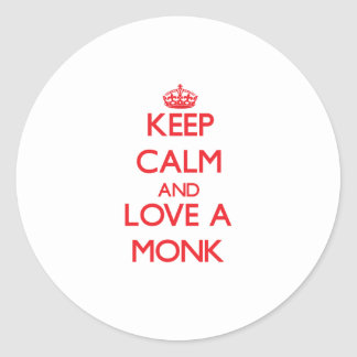 Keep Calm and Love a Monk Stickers
