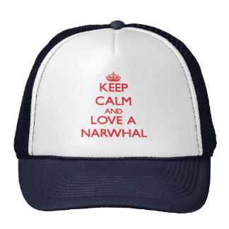 Keep calm and Love a Narwhal Mesh Hat