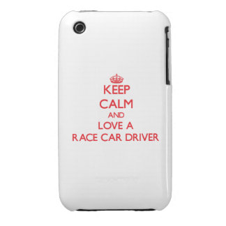 Keep Calm and Love a Race Car Driver Case-Mate iPhone 3 Cases