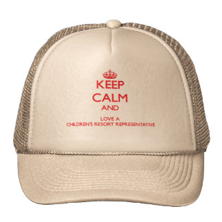 Keep Calm and Love a s Resort Representat Trucker Hat