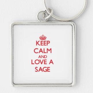 Keep Calm and Love a Sage Keychain