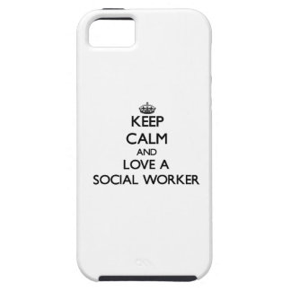Keep Calm and Love a Social Worker iPhone 5 Cover