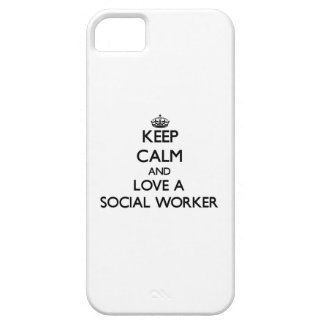 Keep Calm and Love a Social Worker Case For The iPhone 5