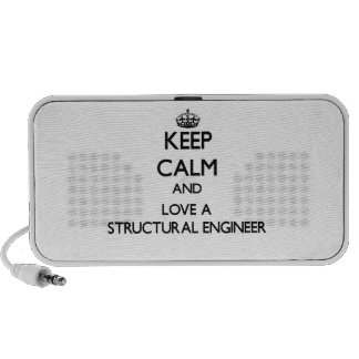 Keep Calm and Love a Structural Engineer Mini Speaker