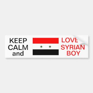 KEEP CALM AND LOVE A SYRIAN BOY STICKER