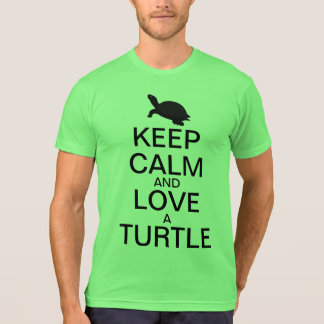 Keep Calm and Love a Turtle T-Shirt