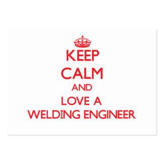 Keep Calm and Love a Welding Engineer Business Card Template