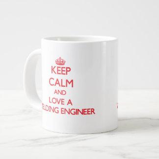 Keep Calm and Love a Welding Engineer Jumbo Mug