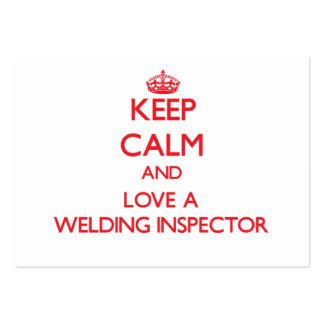 Keep Calm and Love a Welding Inspector Business Card Templates