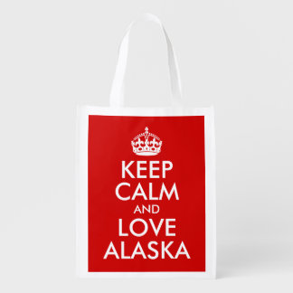 Keep Calm and Love Alaska Market Tote