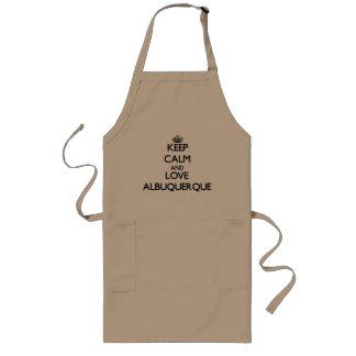 Keep Calm and love Albuquerque Aprons