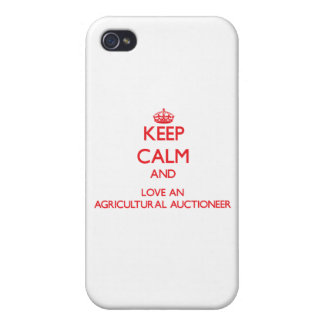 Keep Calm and Love an Agricultural Auctioneer iPhone 4 Cover