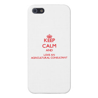 Keep Calm and Love an Agricultural Consultant iPhone 5 Cover