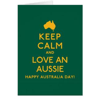 Keep Calm and Love an Aussie! Card