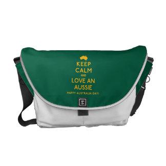 Keep Calm and Love an Aussie! Commuter Bag