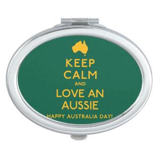 Keep Calm and Love an Aussie! Mirrors For Makeup