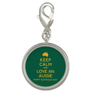 Keep Calm and Love an Aussie! Photo Charm