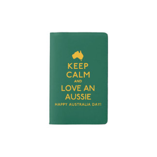 Keep Calm and Love an Aussie! Pocket Moleskine Notebook
