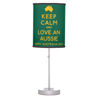 Keep Calm and Love an Aussie! Table Lamp