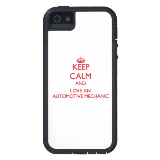 Keep Calm and Love an Automotive Mechanic iPhone 5/5S Covers