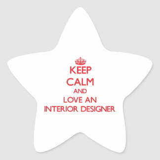 Keep Calm and Love an Interior Designer Star Stickers