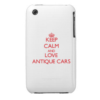 Keep calm and love Antique Cars iPhone 3 Cases