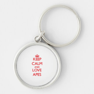 Keep calm and love Apes Keychain