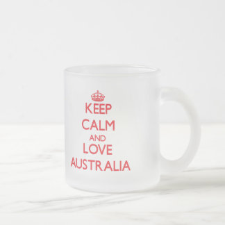 Keep Calm and Love Australia Frosted Glass Mug