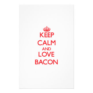 Keep calm and love Bacon Custom Stationery