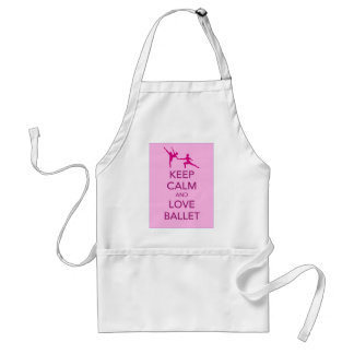Keep Calm and Love Ballet Gift Print Standard Apron