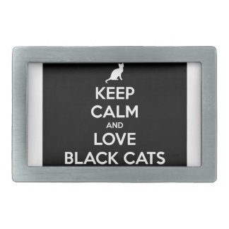 Keep Calm and Love Black Cats Belt Buckle