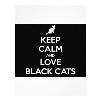 Keep Calm and Love Black Cats Customized Letterhead