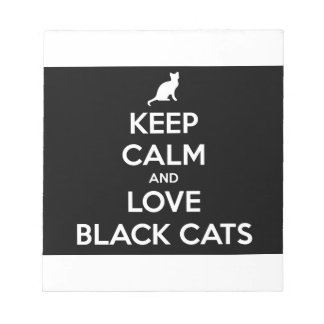 Keep Calm and Love Black Cats Notepad